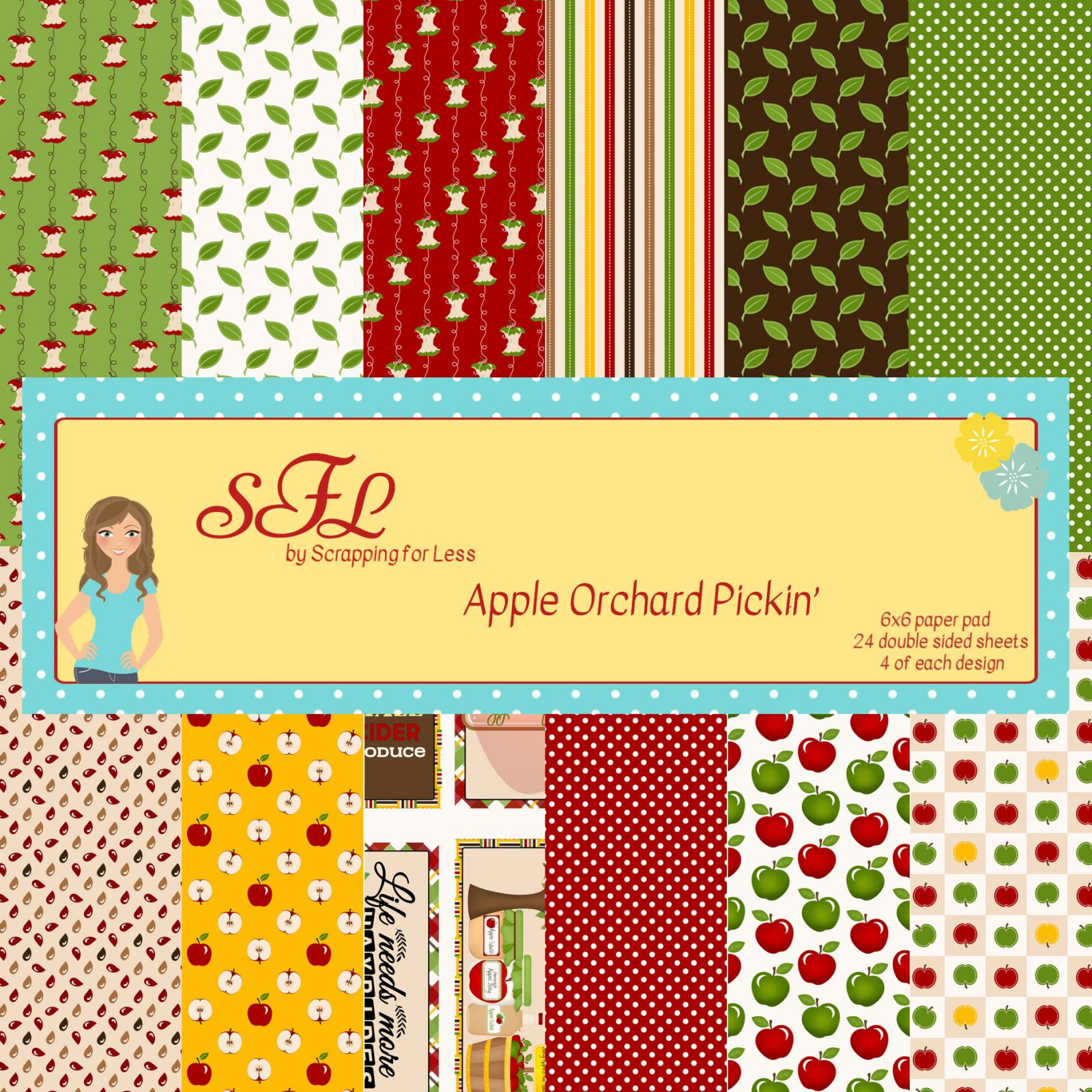 SFL Apple Orchard Pickin' 6x6 Paper Pad