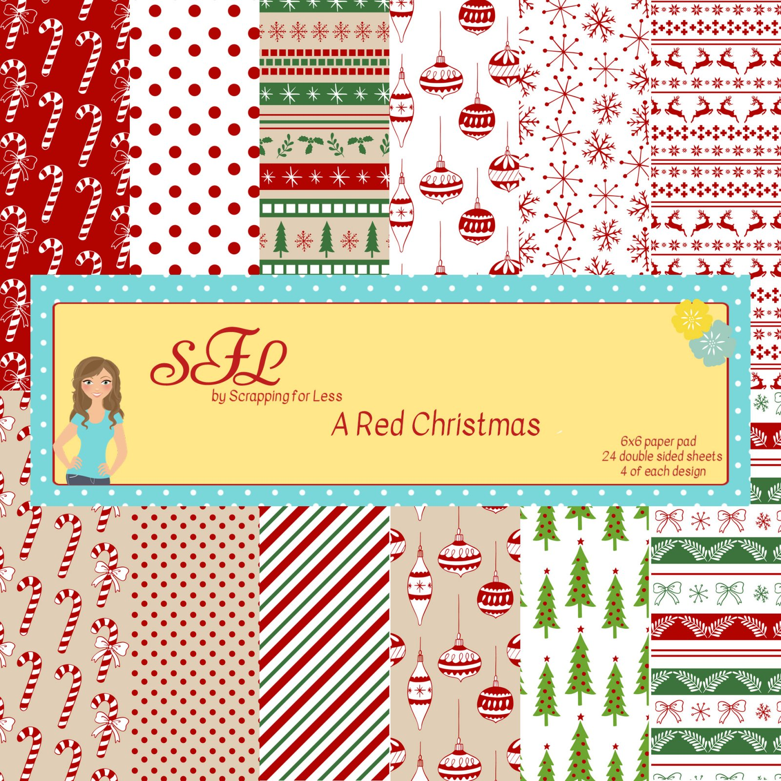 SFL A Red Christmas 6x6 Paper Pad