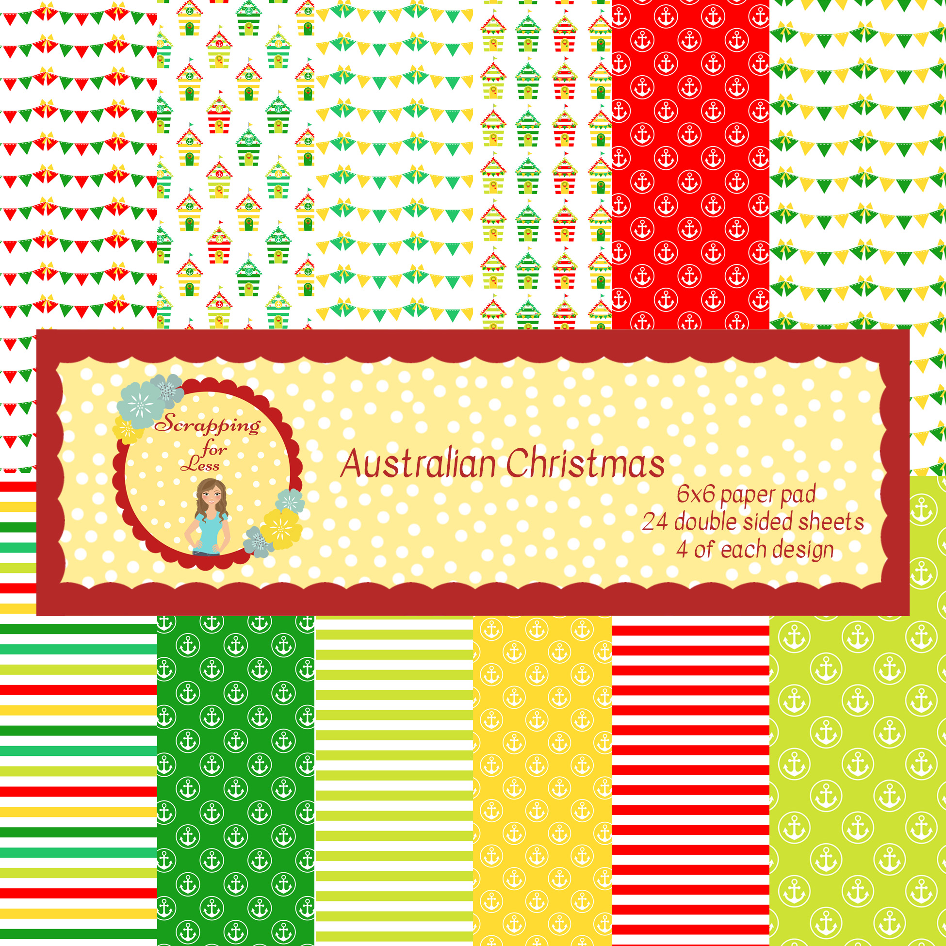 Scrapping for Less Australian Christmas 6x6 Paper Pad