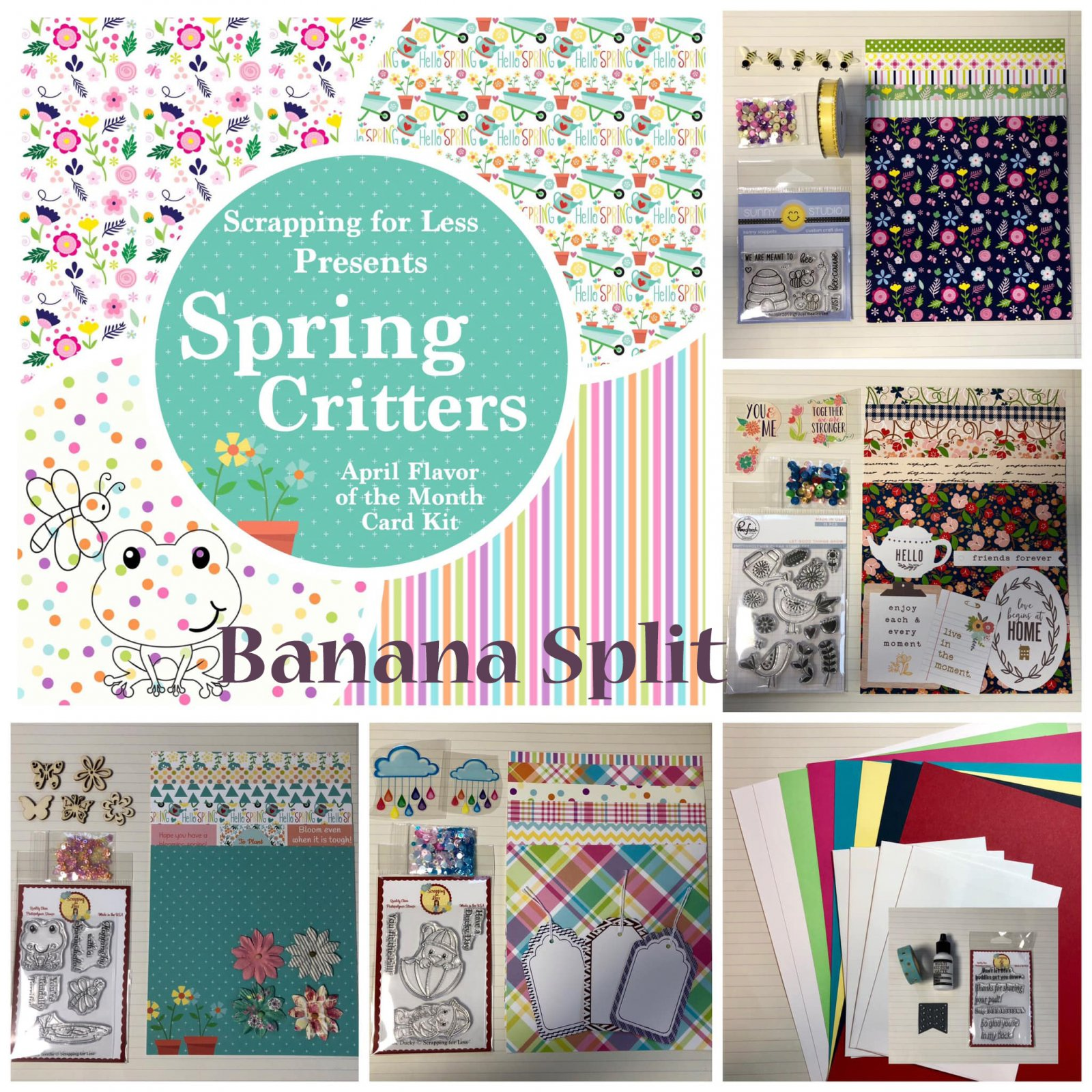 April 2019 Flavor of the Month Banana Split Spring Critters