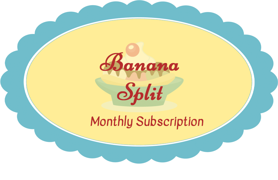 Banana Split Subscription - Billed Every 3 Months (Pay for all 3 months at once) Shipping included in price
