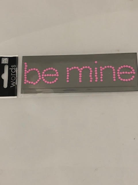 Me &my Big Ideas Self Adhesive Be Mine Bling