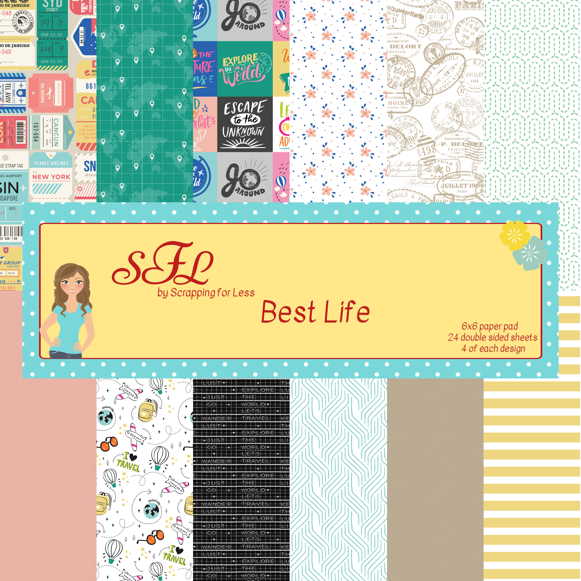 Scrapping for Less Best Life 6x6 Paper Pad
