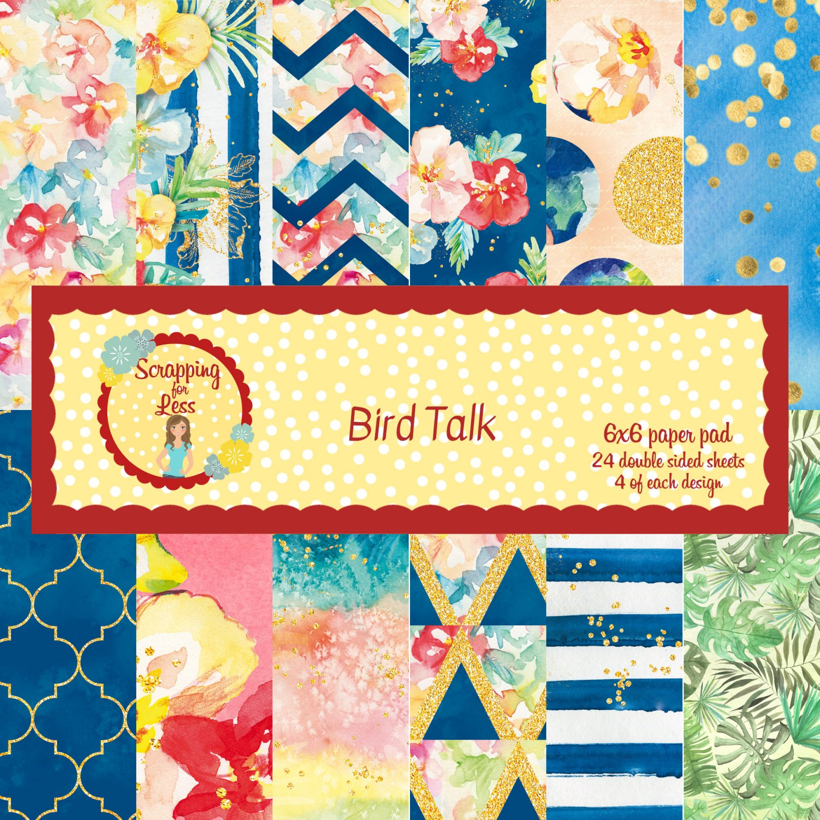 Scrapping for Less Bird Talk 6x6 Paper Pad