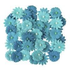Darice Atlantis Blue Button Daisies