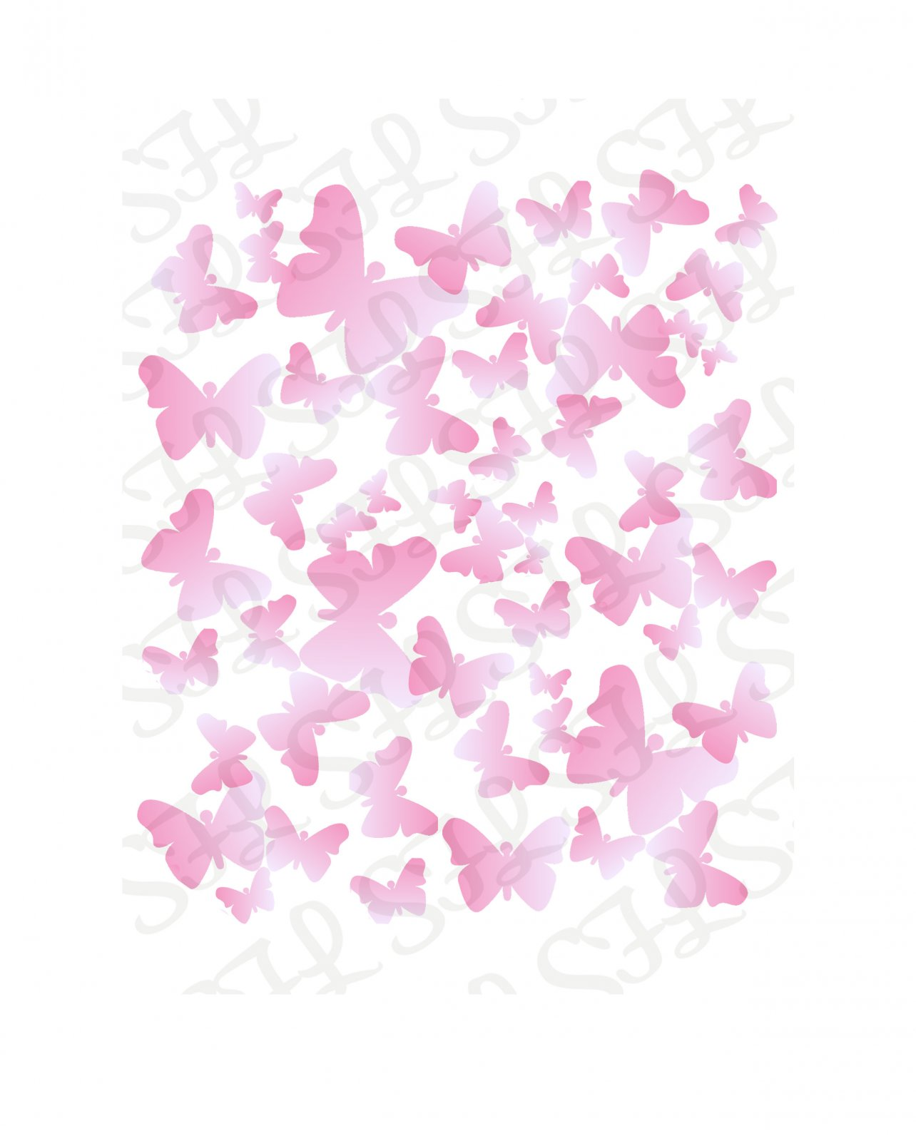 Scrapping for Less 6x6 Stencil Butterflies