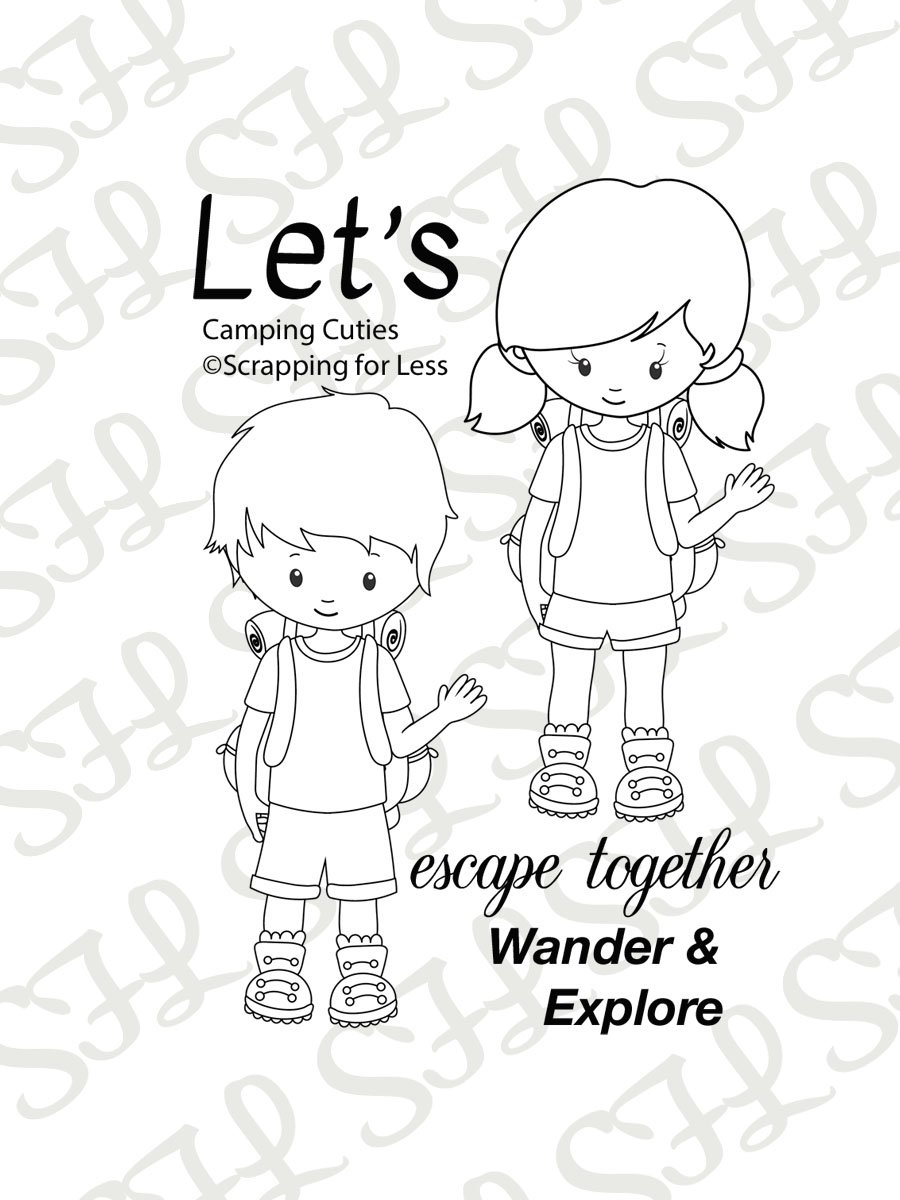 Scrapping for Less Clear Stamps Camping Cuties