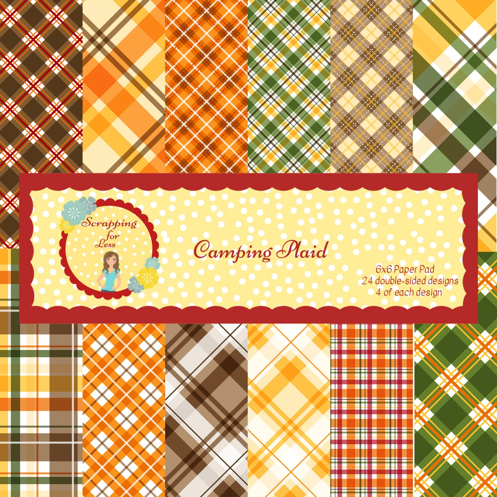 Scrapping for Less 6x6 Paper Pad Camping Plaid