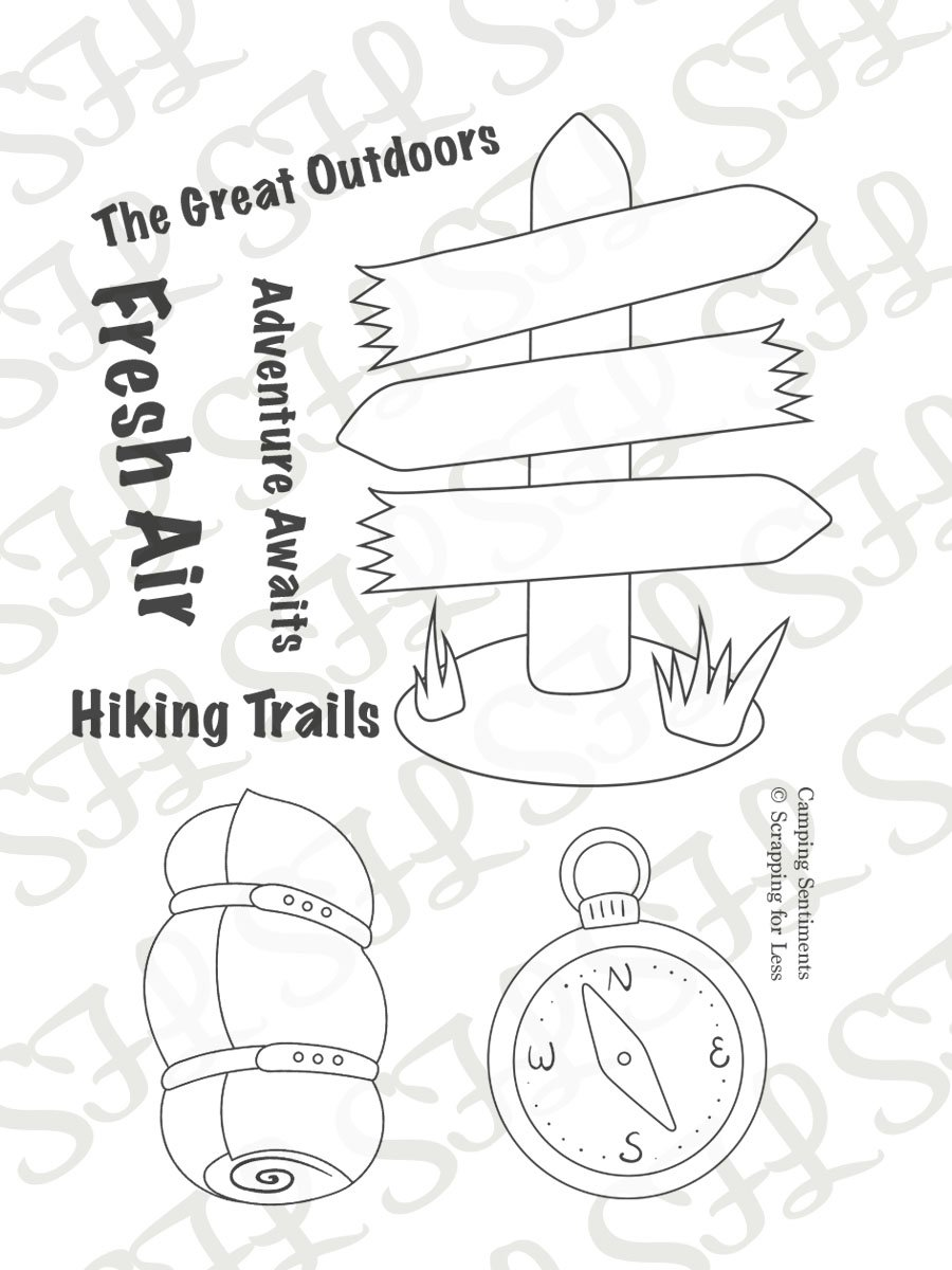 Scrapping for Less Clear Stamps Camping Sentiments