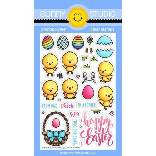 Sunny Studio Clear Stamps 4x6 Chickie Baby