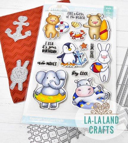 La-La Land Crafts Clear Stamp Set Stay Cool