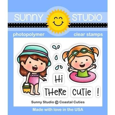 Sunny Studio Clear Stamps: Coastal Cuties