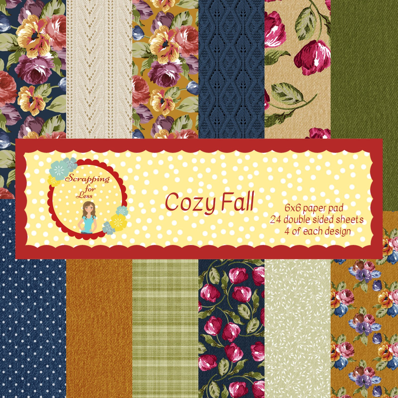 Scrapping for Less Cozy Fall 6x6 Paper Pad
