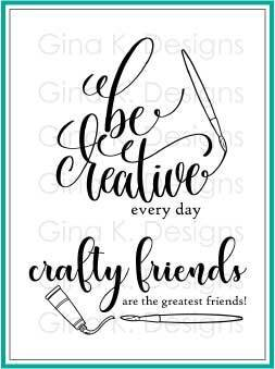 Gina K Designs Clear Stamps Crafty and Creative