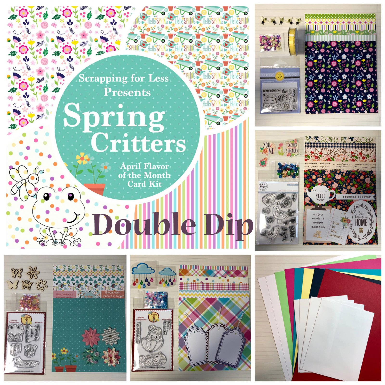 April Flavor of the Month Double Dip Spring Critters