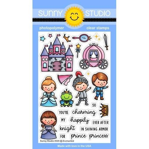 Sunny Studio Clear Stamps 4x6 Enchanted