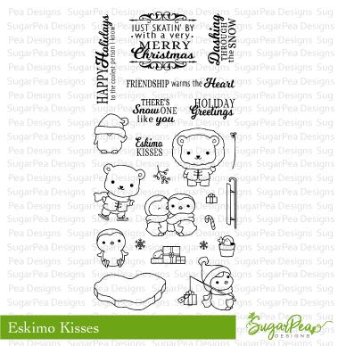 SugarPea Designs Clear Stamps & Die Bundle Eskimo kisses