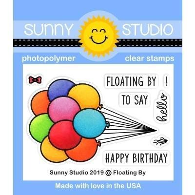 Sunny Studio Clear Stamps Floating By