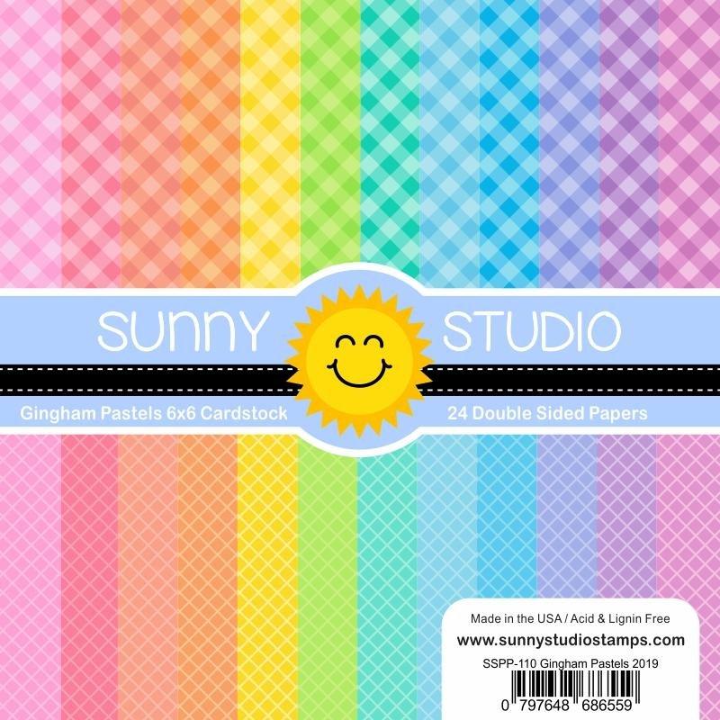 Sunny Studio 6x6 Paper Pad Gingham Patels