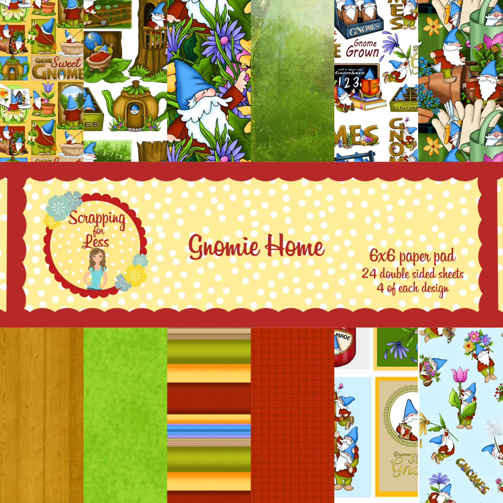 Scrapping for Less Gnomie Home 6x6 Paper Pad