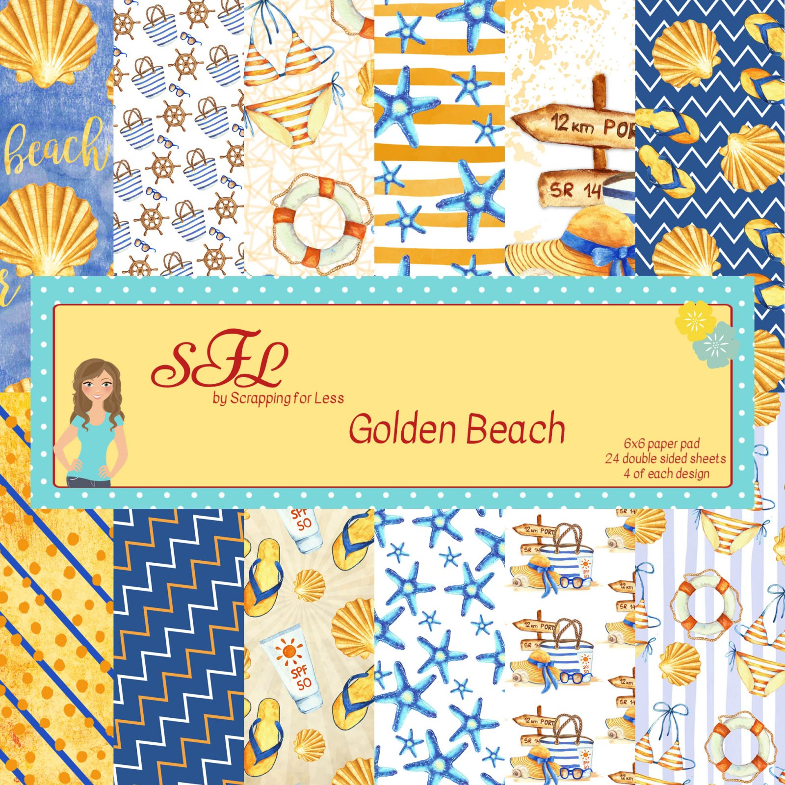 SFL Golden Beach 6x6 Paper Pad