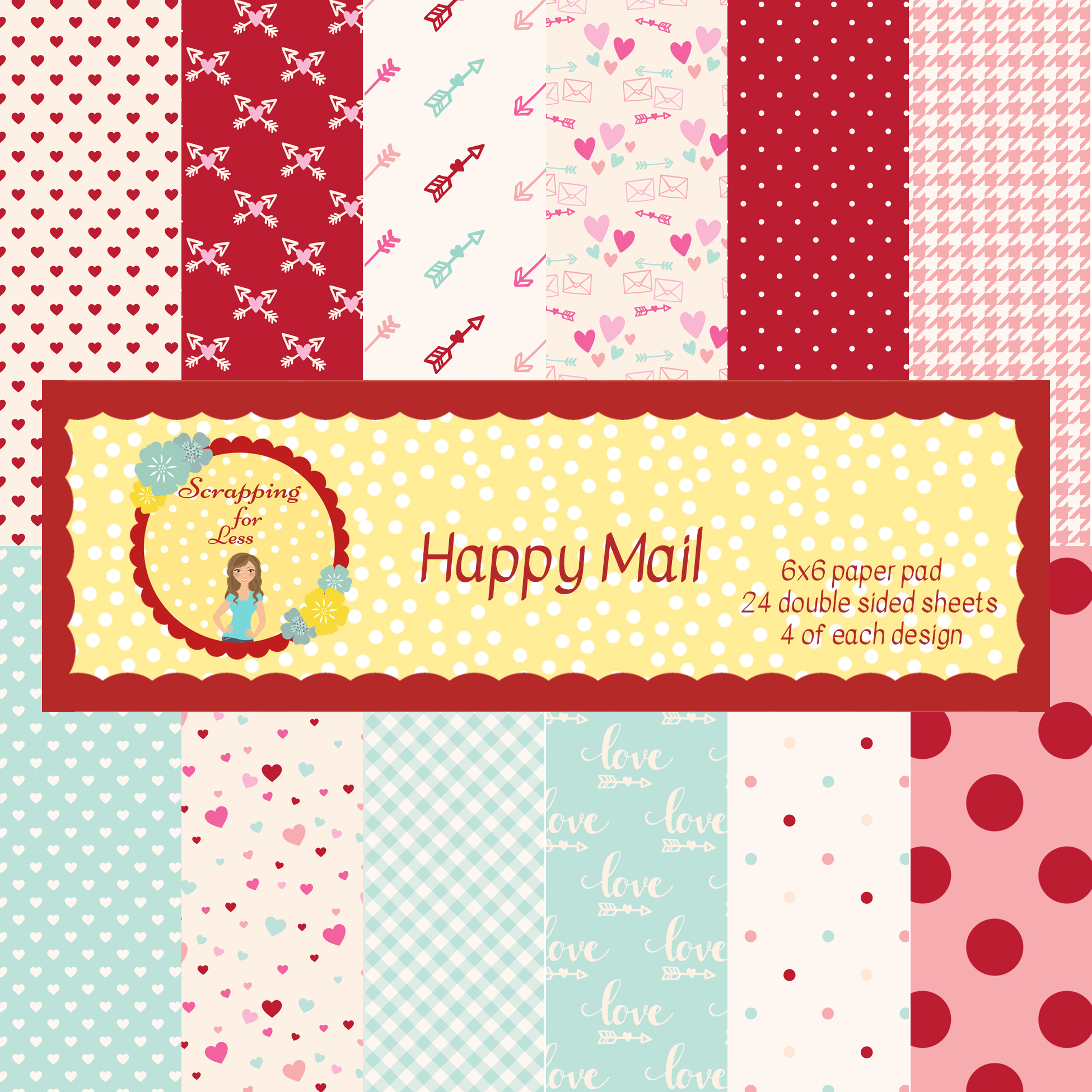 Scrapping for Less Happy Mail 6x6 Paper Pad