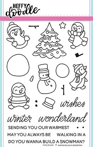 Heffy Doodle Clear Stamps: Wanna Build a Snowman? 4x6 Stamp