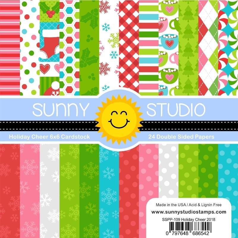 Sunny Studio 6x6 Paper Pad Holiday Cheer