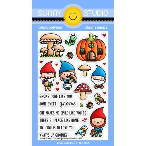 Sunny Studio Clear Stamps Home Sweet Gnome