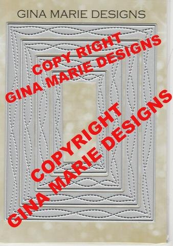 Gina Marie Designs Wonky Stitched Rectangles