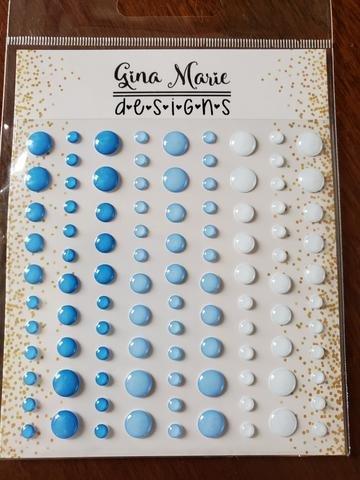 Gina Marie Designs Enamel Dots Ice Blues