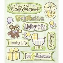 K&Company Baby Shower Stickers
