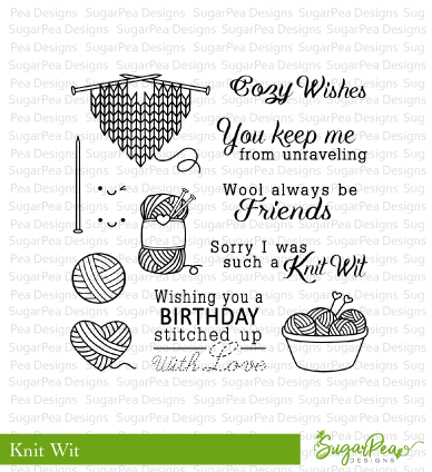 SugarPea Designs Clear Stamps Knit Wit