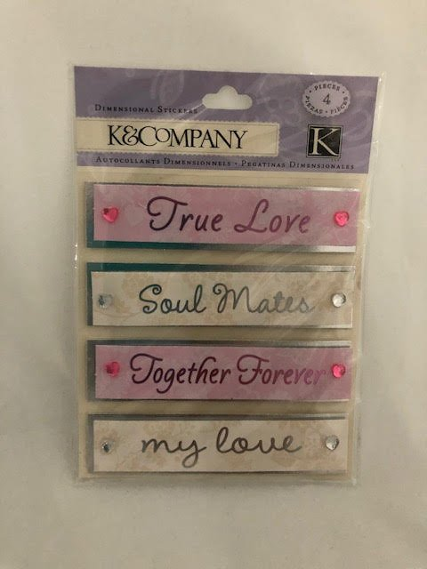 K&Company Love Dimensional Stickers