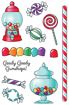 LDRS Clear Stamp Goody Gumdrops  4x6