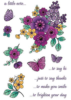 LDRS Clear Stamp Country Flowers  4x6