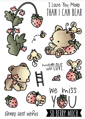 LDRS Clear Stamp Strawberry Patch  4x6