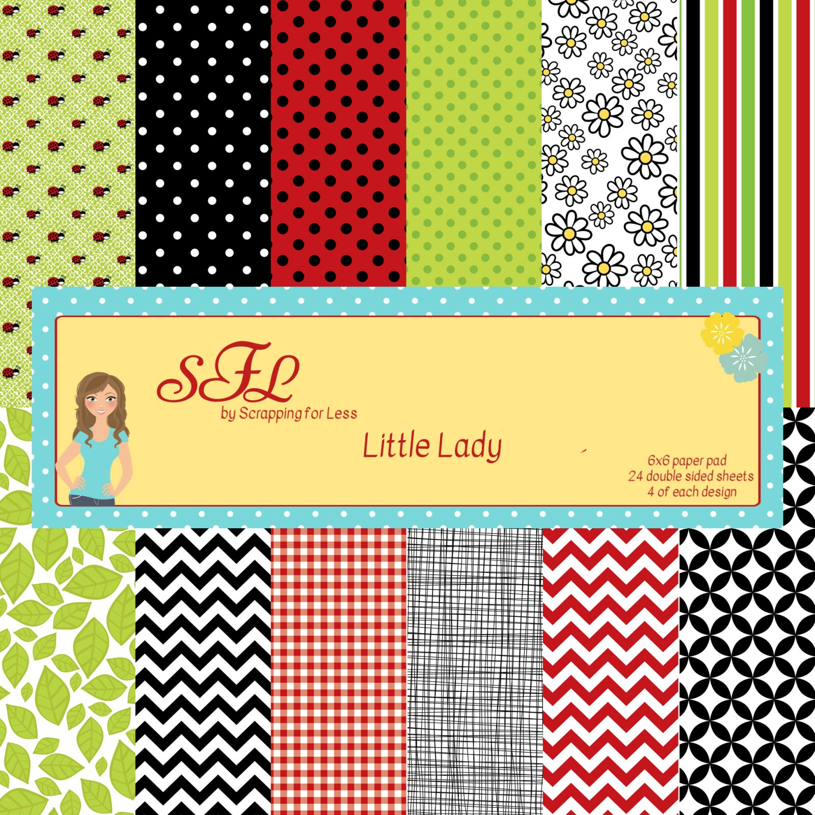 Scrapping for Less Little Lady 6x6 Paper Pad