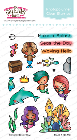The Greeting Farm Clear Stamps Make A Splash
