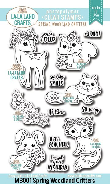 La-La Land Crafts Clear Stamps Spring Woodland Creatures