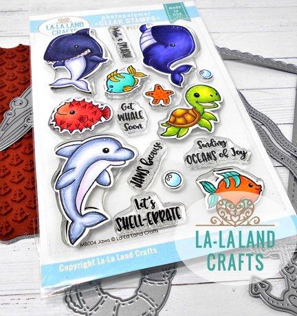 La-La Land Crafts Clear Stamp Set Jaws Because
