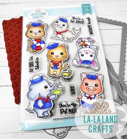La-La Land Crafts Clear Stamp Set Best Mates