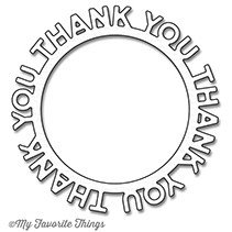 My Favorite Things Die-Namics Thank You Circle Frame