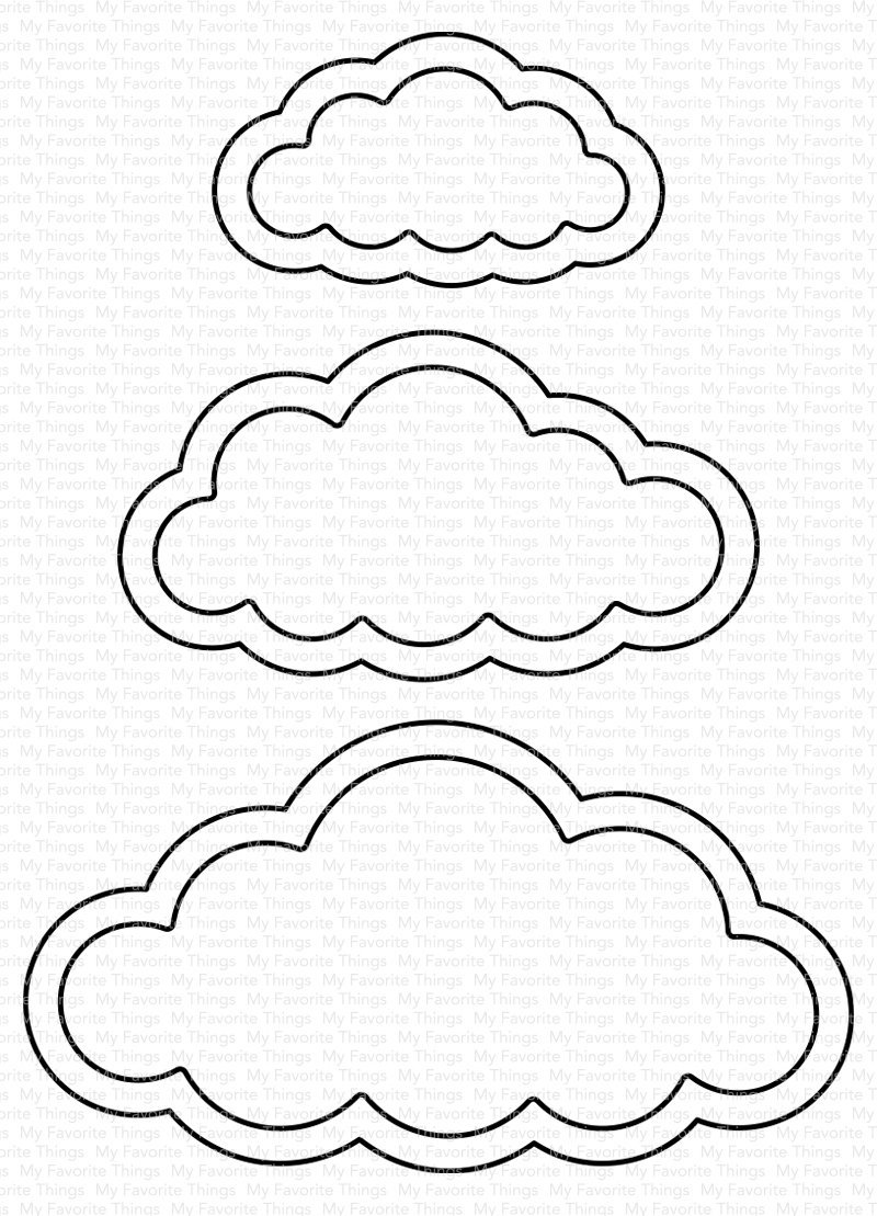 My Favorite Things Die-Namics Cute Cloud Outlines