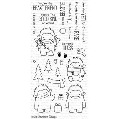 My Favorite Things Clear Stamps BB Beast Friends