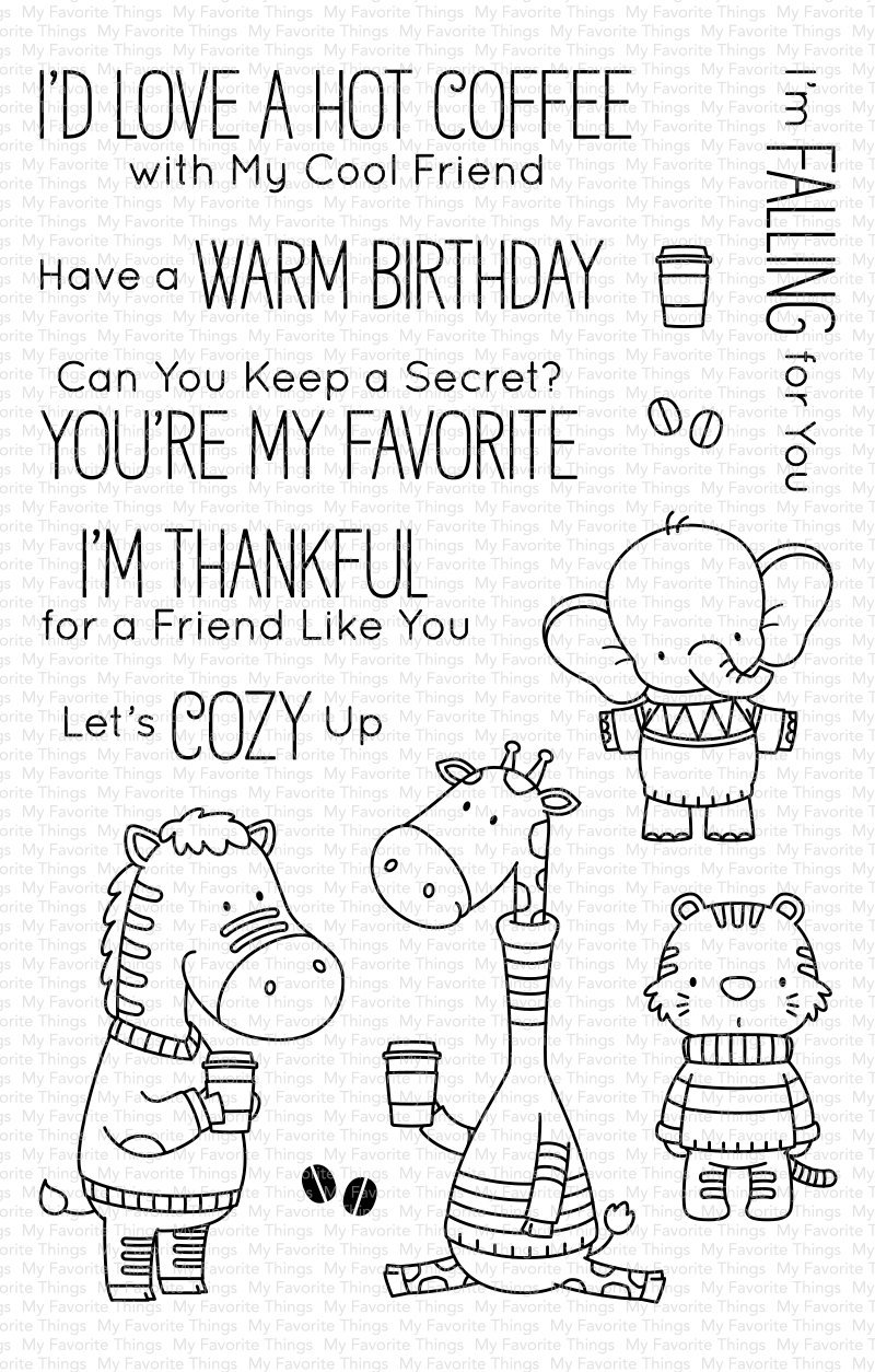 My Favorite Things Clear Stamps Sweater Weather on Safari