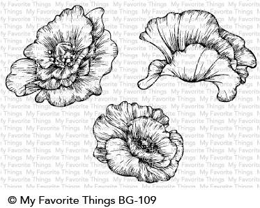 My Favorite Things Rubber Stamps Poppy Blooms