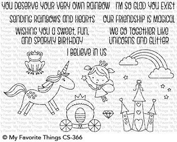 My Favorite Things Clear Stamps Rainbows and Unicorns