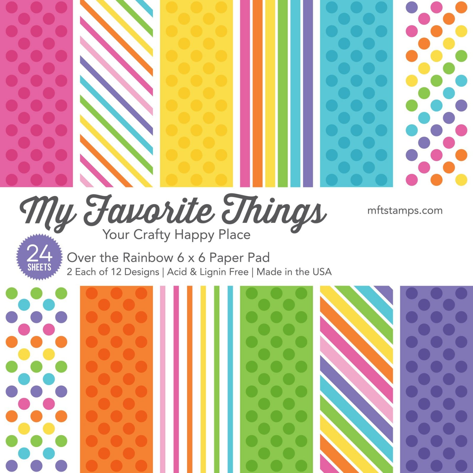 My Favorite Things 6x6 Paper Pad Over the Rainbow