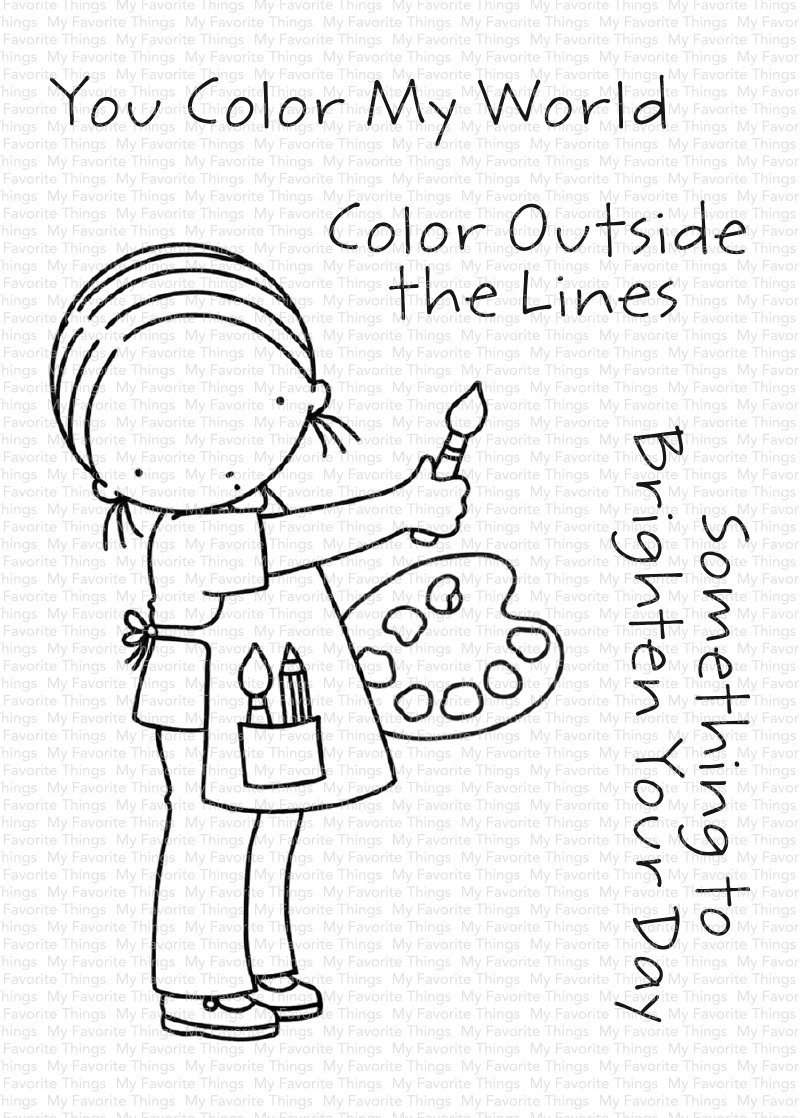My Favorite Things Clear Stamps You Color My World